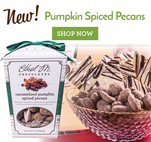 New! Caramelized Pumpkin Spiced Pecans