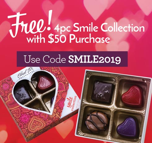 Use code SMILE2019 with any $50 purchase for a FREE Smile Collection
