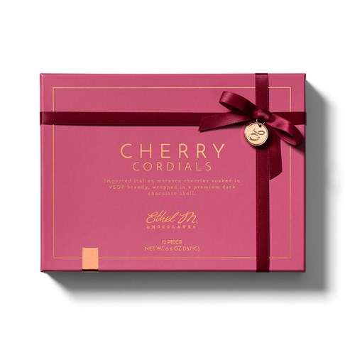 front of cherry cordials box