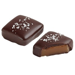 dark chocolate sea salt caramel piece