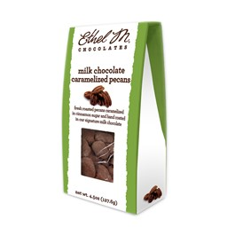 milk chocolate spiced pecans 4.5 oz box