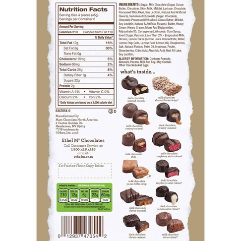 24pc deluxe collection ingredients and nutritional info