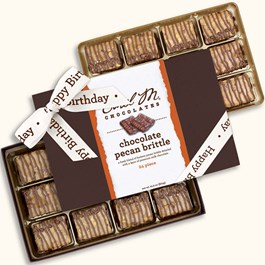 Ethel_M_Chocolates_24_Piece_Double_Layer_Chocolate_Brittle_Collection_With_White_Happy_Birthday_Ribbon_Open_Box_Overhead_View