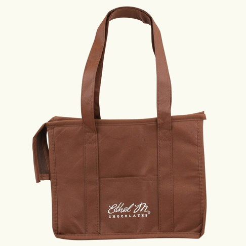 Ethel_M_Chocolates_Brown_Insulated_Bag_Front_View