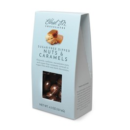 Sugar Free Dipped Nuts and Caramels 4.5oz snack