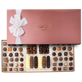Ethel_M_Chocolates_100+_Single_Layer_2019_Holiday_Centerpiece_Chocolate_Collection_Open_Box_Overhead_View