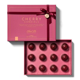 open box of 12 piece cherry cordials with lid