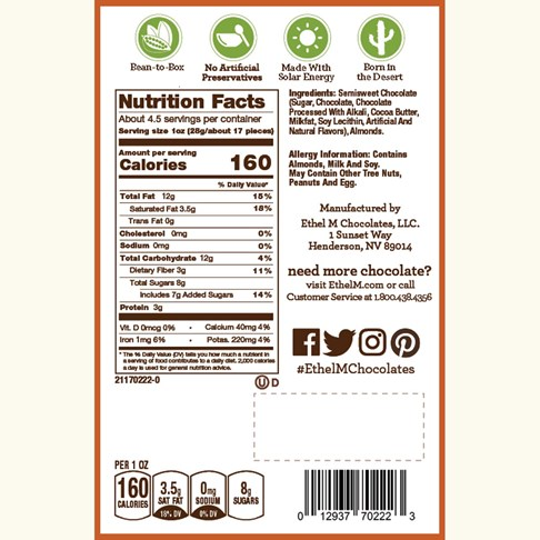 Ethel_M_Chocolates_Dark_Chocolate_Covered_Almonds_Nutrition_Label