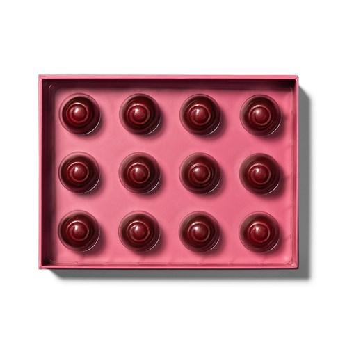 open tray of 12 piece cherry cordials