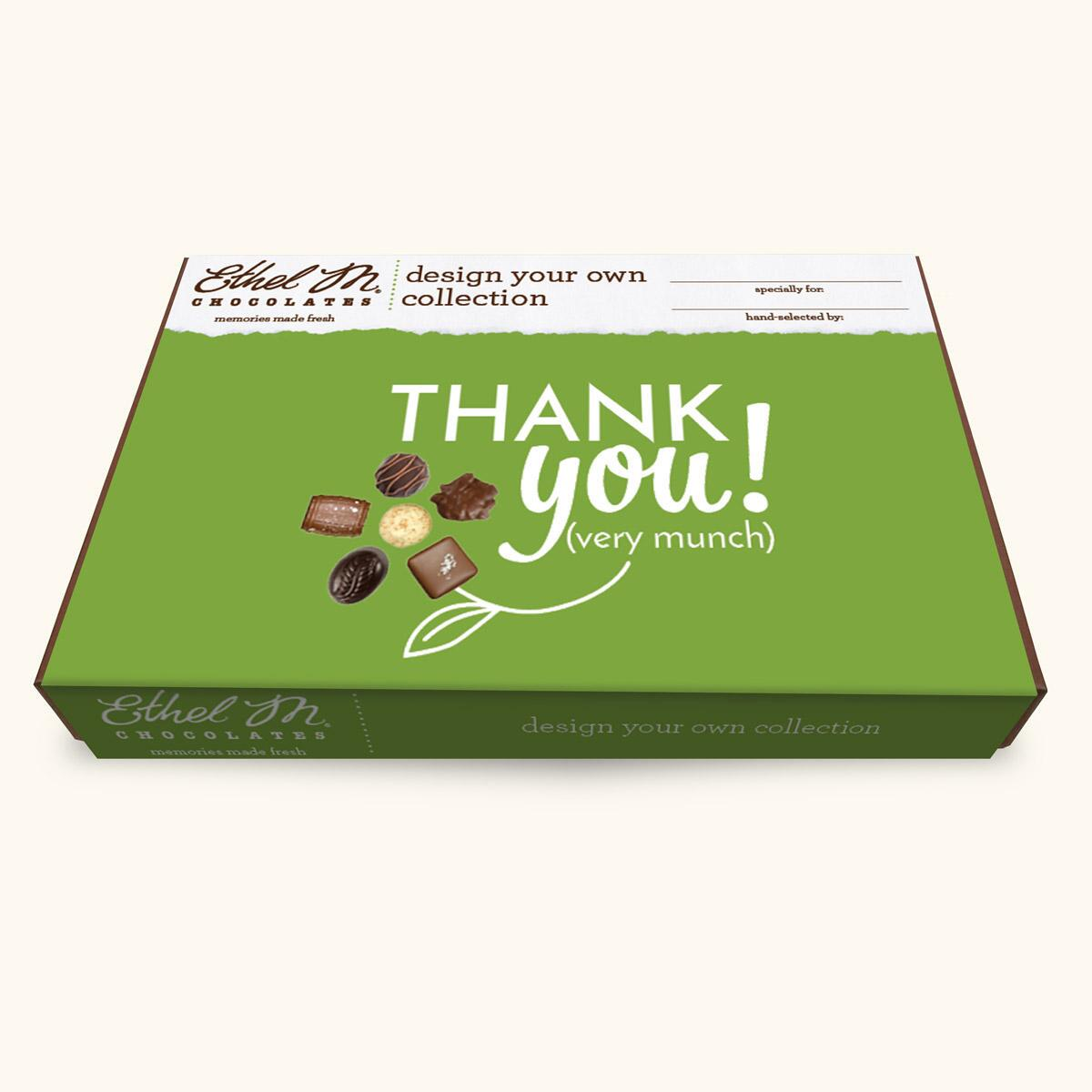 Design Your Own THANK YOU Chocolate Assortment, 20-40 Total Pieces