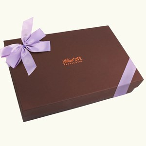 Ethel_M_Chocolates_Design_Your_Own_Double_Layer_Assorted_Chocolate_Box_With_Orchid_Bow_Front_View