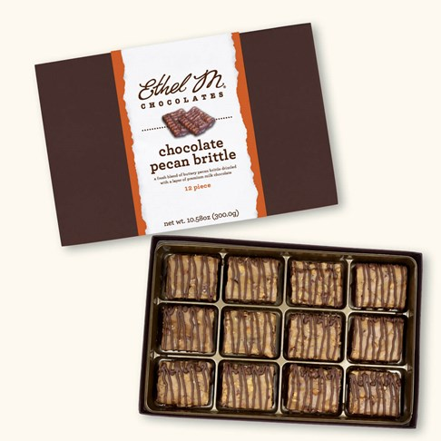 Ethel_M_Chocolates_12_Piece_Chocolate_Brittle_Open_Box_Overhead_View