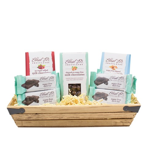 sugar free  and no sugar added snack boxes with sugar free bars