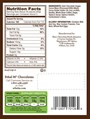 Nutrition Facts, Allergy and Ingredients on our pre-made box.