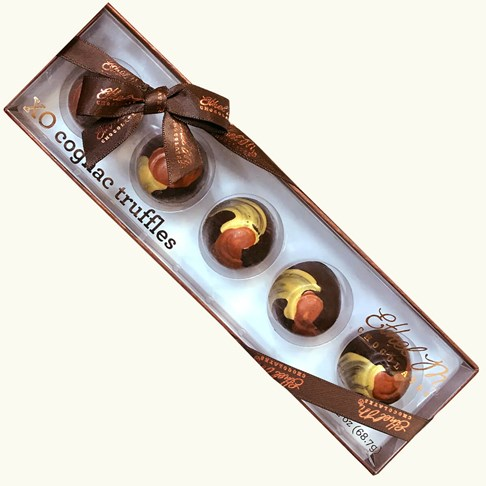 Ethel_M_Chocolates_5_Piece_Cognac_Truffle_Sampler_Overhead_View