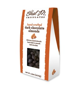 dark chocolate almonds 4.5 oz box