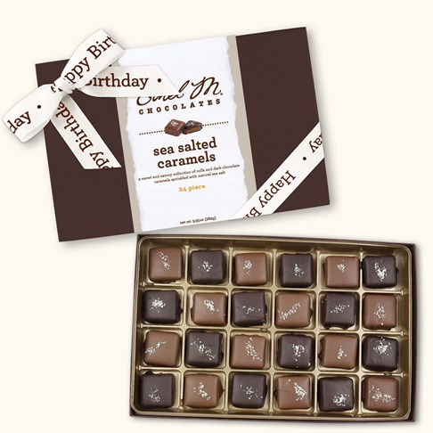 Ethel_M_Chocolates_24_Piece_Single_Layer_Sea_Salt_Chewy_Caramel_Collection_With_White_Happy_Birthday_Ribbon