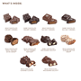 what's inside 12 piece nuts and   caramels collection