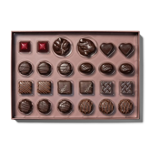 tray of dark chocolate collection
