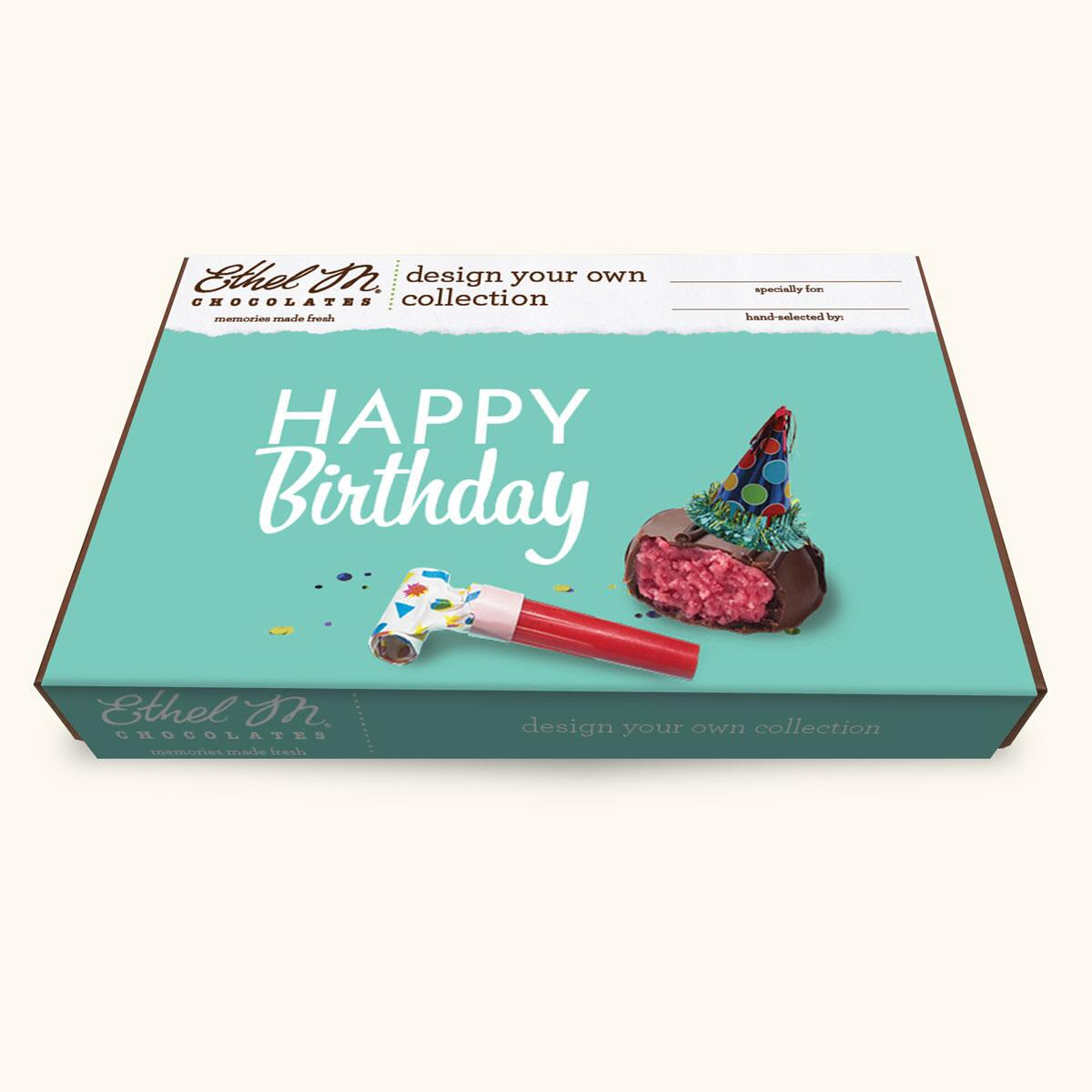 Design Your Own HAPPY BIRTHDAY Chocolate Assortment, 20-40 Total Pieces