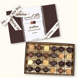 Ethel_M_Chocolates_24_Piece_Single_Layer_Truffle_Collection_Box_With_White_Happy_Birthday_Open_Box_Overhead_View
