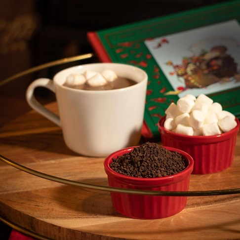Our Premium Hot Chocolate Mix contains 100% Gourmet Chocolate Shavings. Just add milk, heat and enjoy!