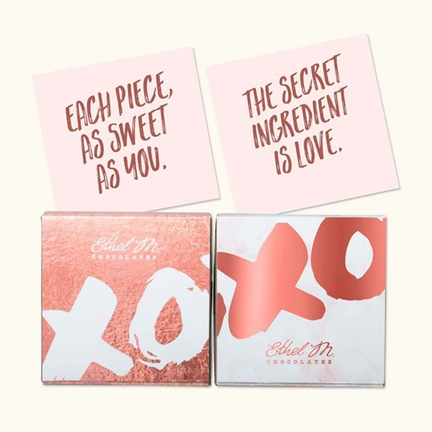 Ethel_M_Chocolates_XOXO_Valentines_4_Piece_Chocolate_Sampler_Two_Box_Overhead_View