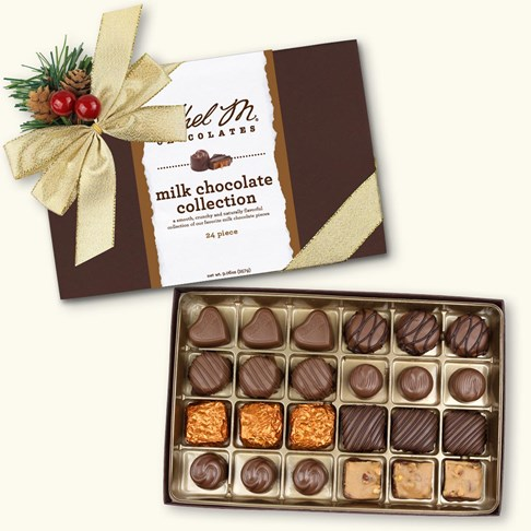 24pc holiday milk choclate collection