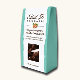 Sugar Free Milk Chocolate Dipped Almonds