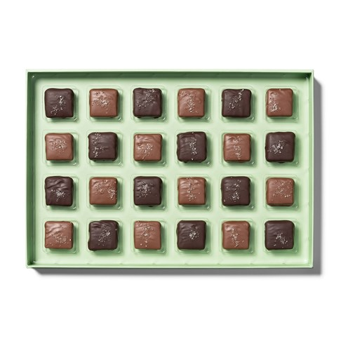 open tray of sea salt 24 piece collection