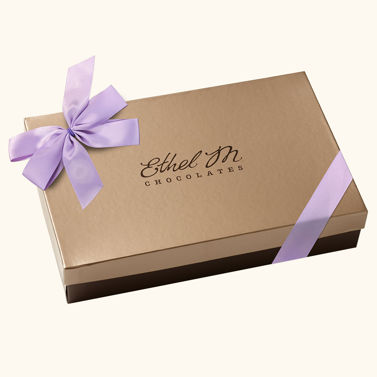 Design Your Own ORCHID RIBBON Chocolate Assortment, Two-Layer Collection, 40-80 Total Pieces