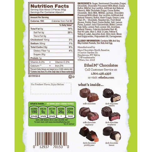 12pc satin cremes collection ingredient and nutritional info