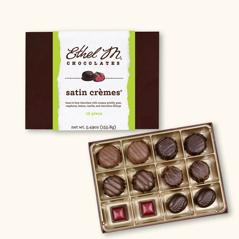 Ethel_M_Chocolates_12_Piece_Single_Layer_Satin_Cremes_Open_Box_Overhead_Views