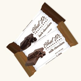 Ethel_M_Chocolates_Individually_Wrapped_Milk_And_Dark_Chocolate_Bar_Set_Overhead_View