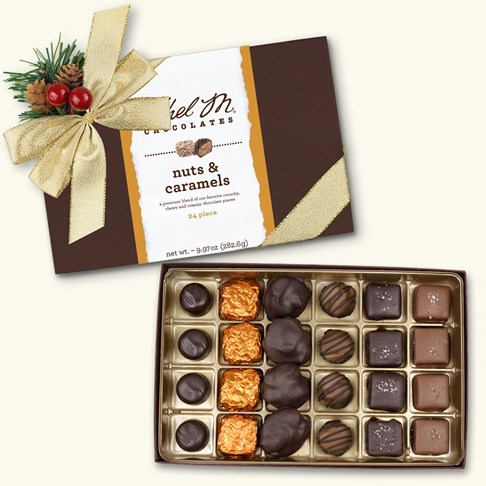 24pc holiday nut caramel collection