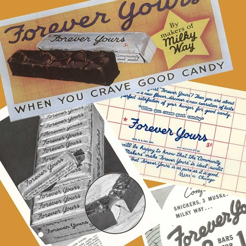 The ORIGINAL Forever Yours chocolate bar, using the same recipe from 1936!