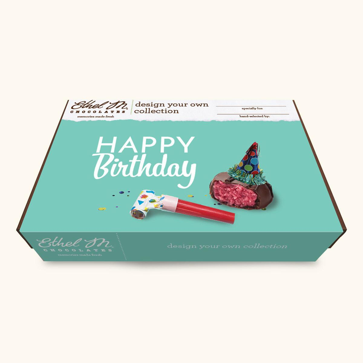 Design Your Own HAPPY BIRTHDAY Chocolate Assortment, Two-Layer Collection, 40-80 Total Pieces