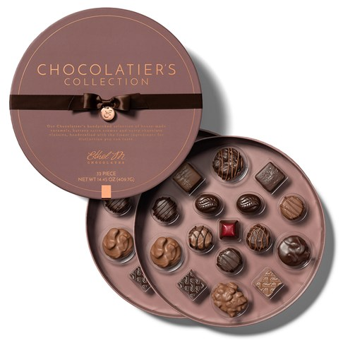 32 piece chocolatiers collection open with lid
