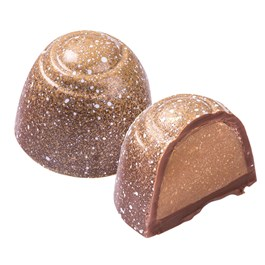 milk chocolate champagne truffle piece