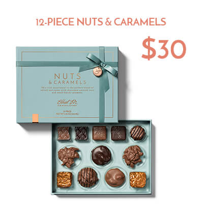 12-pc nut & caramel collection $30usd