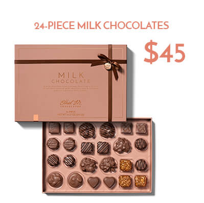 24-pc milk chocolate collection $45usd