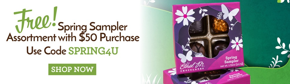 free 4-piece spring sampler collection with $50 purchase when you use code SPRING4U