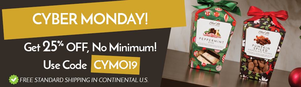 Cyber Monday! Get 25% off, no minimum! Use code CYMO19
