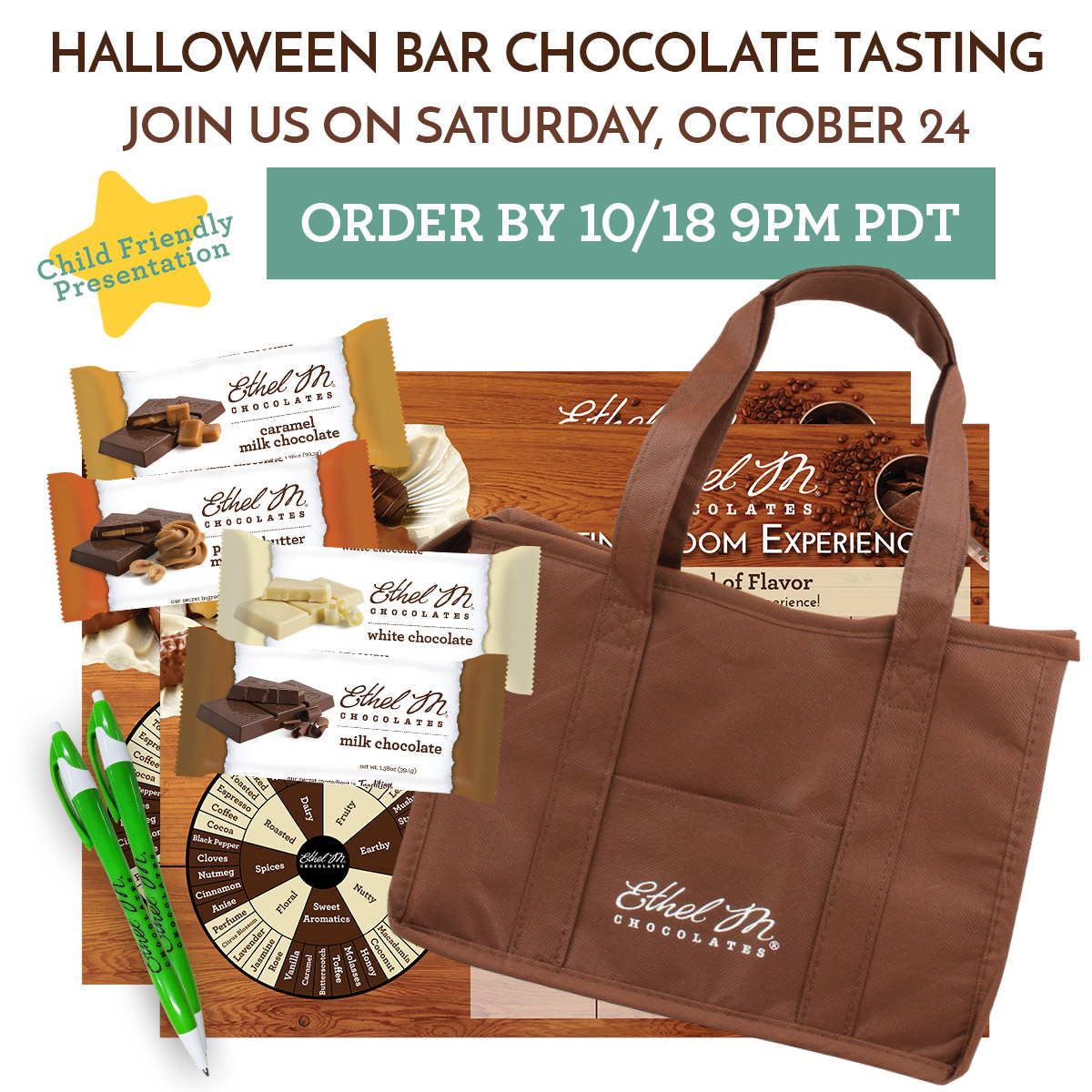 Halloween Chocolate Bar Tasting on Sat 10/24 @ 5pm