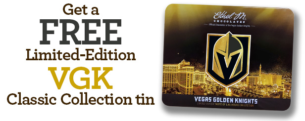 get a free vegas golden knights tin with $75+ when you use code KNIGHTUP