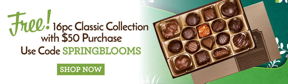 FREE 16pc Classic Collection with $50 purchase when you use code SPRINGBLOOMS