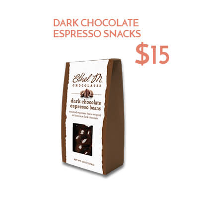dark chocolate espresso beans $15usd