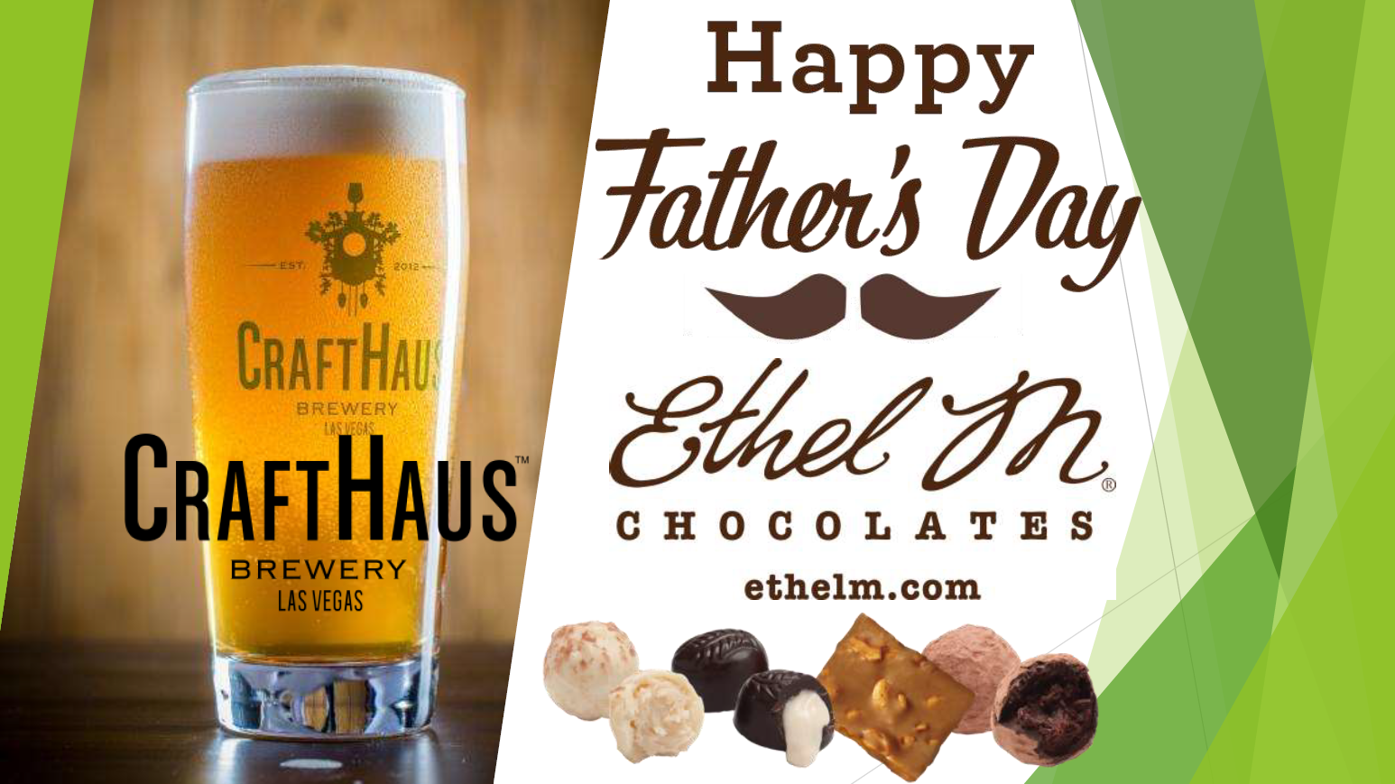 Join us for a Father's Day Beer Tasting with CraftHaus & Ethel M Chocolates