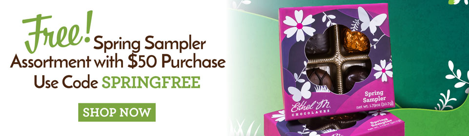 Free Spring Sampler Asdsortment with $50 purchase when you use code SPRINGFREE