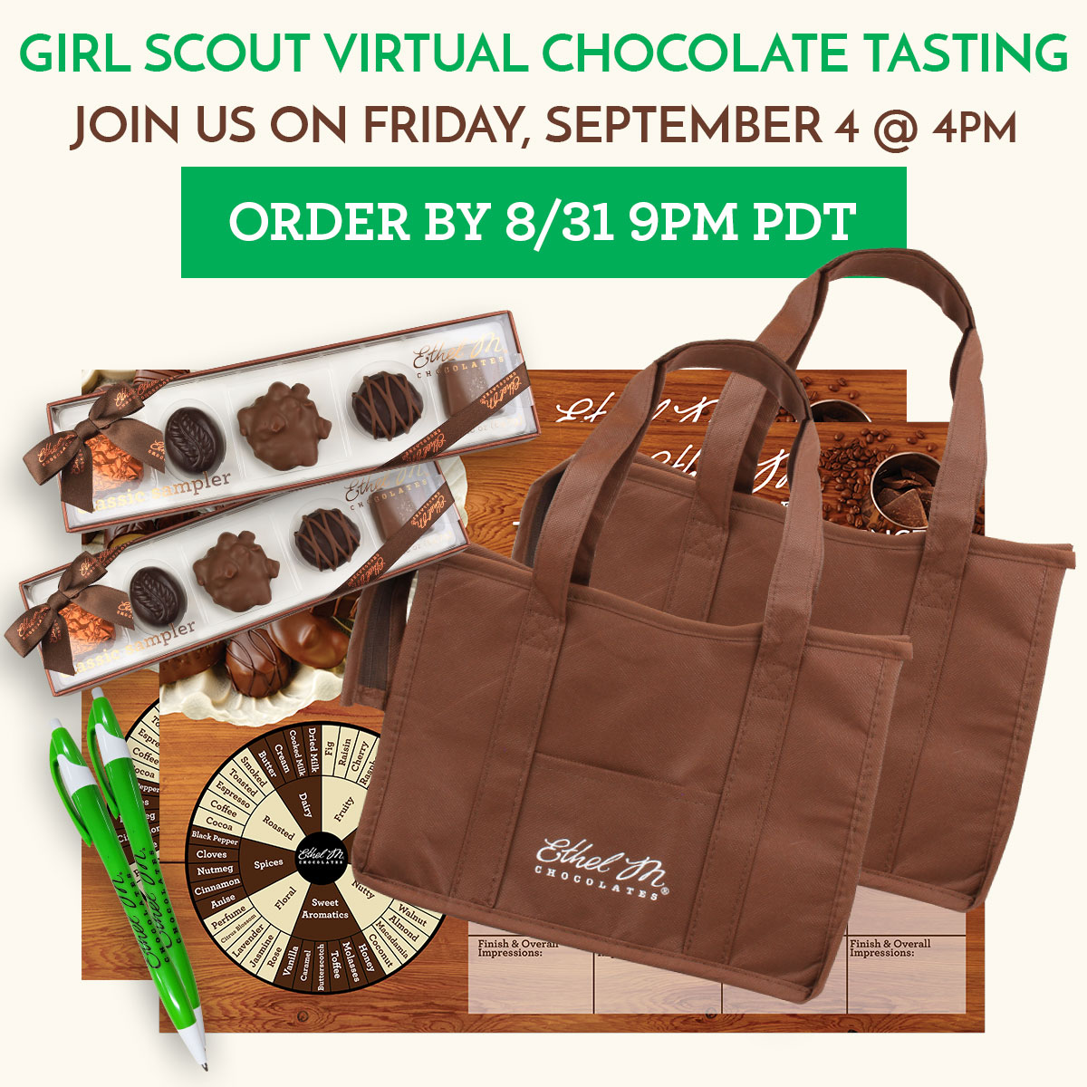 private girl scout virtual tasting